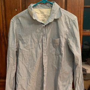 Rag And Bone Mens Button Up Shirt Size M Blue